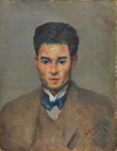 柳敬助が描いた富本憲吉の肖像画